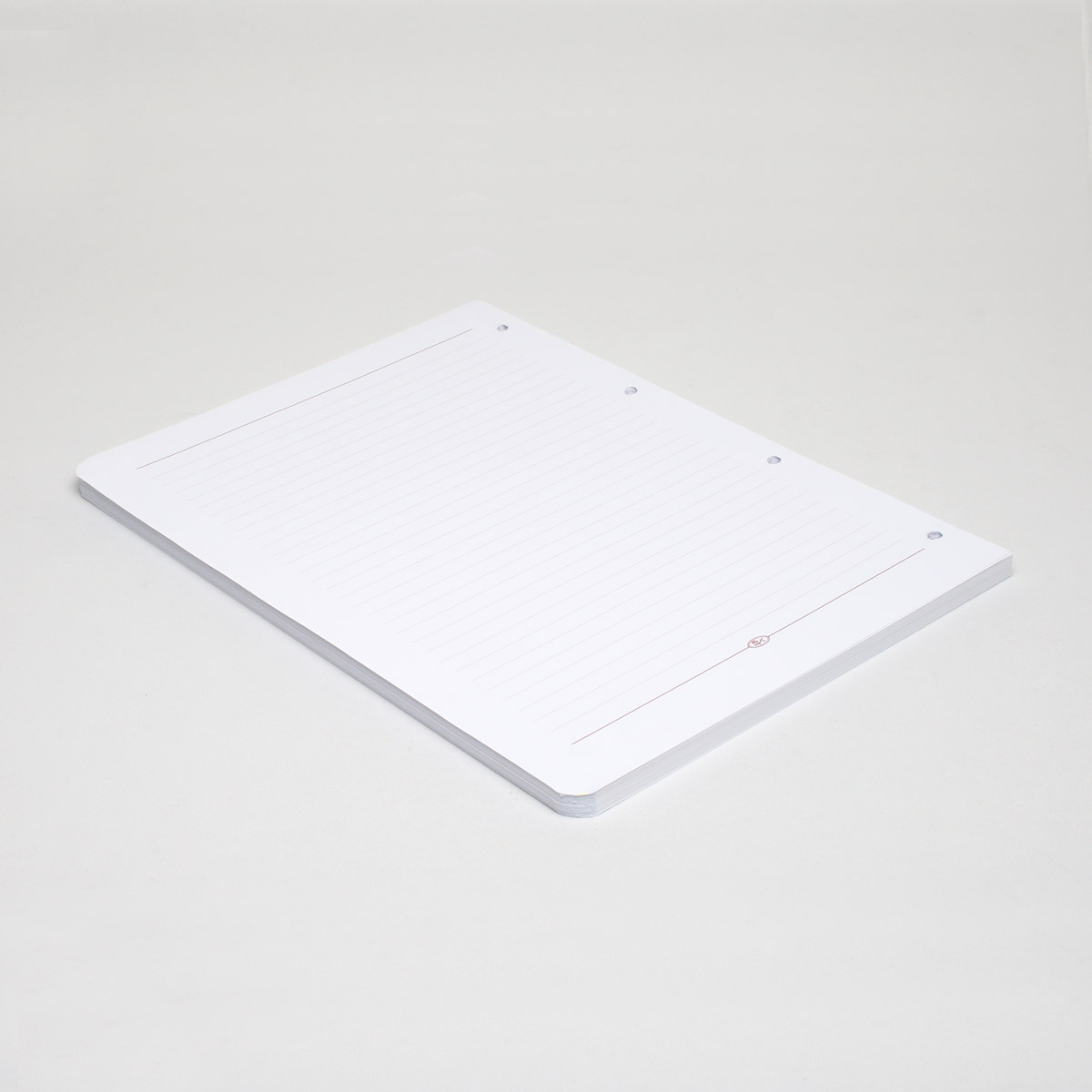 کاغذ کلاسور 4 حلقه تحریر خط دار بسته 80 برگی